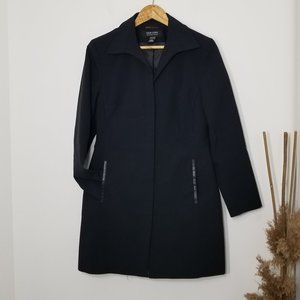 New York & Co | City Stretch Black Coat Size 4